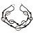 Boho Two Strand Bead Black Fashion Necklace