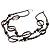 Boho Two Strand Bead Black Fashion Necklace - view 2