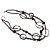 Boho Two Strand Bead Black Fashion Necklace - view 3