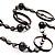 Boho Two Strand Bead Black Fashion Necklace - view 4