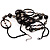 Boho Two Strand Bead Black Fashion Necklace - view 5