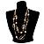 Boho Two Strand Bead Light Cream Fashion Necklace - view 6