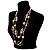 Boho Two Strand Bead Light Cream Fashion Necklace - view 11