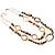 Boho Two Strand Bead Light Cream Fashion Necklace - view 3