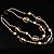 Boho Two Strand Bead Light Cream Fashion Necklace - view 2
