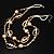 Boho Two Strand Bead Light Cream Fashion Necklace - view 4