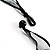 Long Black Glass Bead Floral Organza Necklace - view 5