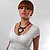 Wood Tribal Multi Cord Necklace - view 6