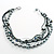 7-Tier Simulated Pearl & Ash Grey Sparkle Cord Necklace