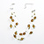 Olive Plastic And Simulated Pearl Illusion Necklace - view 2