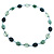 Long Plastic Flat Oval Bead Teal Necklace - 108cm L - view 5