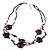 2 Strand Purple Floral Shell Necklace (Purple) - view 11
