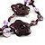 2 Strand Purple Floral Shell Necklace (Purple) - view 3