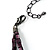 2 Strand Purple Floral Shell Necklace (Purple) - view 8