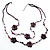 2 Strand Purple Floral Shell Necklace (Purple) - view 9
