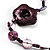 2 Strand Purple Floral Shell Necklace (Purple) - view 10