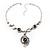 Unique Vintage Hammered Necklace (Black) - view 5