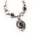 Unique Vintage Hammered Necklace (Black) - view 8