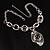 Unique Vintage Hammered Necklace (Black) - view 2