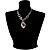 Unique Vintage Hammered Necklace (Black) - view 7