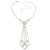 Diamante Butterfly Tie Necklace (Clear) - view 9