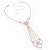 Diamante Butterfly Tie Necklace (Clear) - view 10