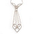 Diamante Butterfly Tie Necklace (Clear) - view 3