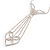 Diamante Butterfly Tie Necklace (Clear) - view 11