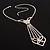 Diamante Butterfly Tie Necklace (Clear) - view 12