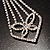 Diamante Butterfly Tie Necklace (Clear) - view 4