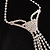 Diamante Butterfly Tie Necklace (Clear) - view 5