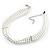 8mm Bridal/ Prom/ Wedding 3 Strand White Simulated Glass Pearl Fashion Choker - 32cm Long/ 6cm Ext - view 2