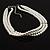 8mm Bridal/ Prom/ Wedding 3 Strand White Simulated Glass Pearl Fashion Choker - 32cm Long/ 6cm Ext - view 4