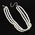 8mm Bridal/ Prom/ Wedding 3 Strand White Simulated Glass Pearl Fashion Choker - 32cm Long/ 6cm Ext - view 6