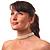 8mm Bridal/ Prom/ Wedding 3 Strand White Simulated Glass Pearl Fashion Choker - 32cm Long/ 6cm Ext - view 3