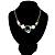 Gold Tone Geometrical Enamel Choker Necklace (Aqua Blue) - view 2