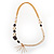 Long Gold Tone Multistrand Tassel Necklace - view 9