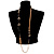 Long Gold Tone Multistrand Tassel Necklace - view 3