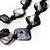 2 Strand Black Shell Beaded Necklace - view 3