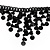Black Gothic Sequin Fashion Choker Necklace - view 5