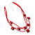 3 Strand Red Beaded Square Neckace - view 4