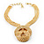Egyptian Style Gold Tone Choker Necklace - view 9