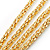 Egyptian Style Gold Tone Choker Necklace - view 4