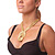 Egyptian Style Gold Tone Choker Necklace - view 11