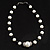 Black & White Imitation Pearl Necklace - 38cm L - view 5