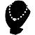 Black & White Imitation Pearl Necklace - 38cm L - view 4