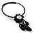Black Beaded Floral Choker - view 5