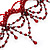 Victorian Style Hot Red Beaded Choker - view 5