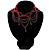 Victorian Style Hot Red Beaded Choker - view 3