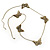 Long Antique Bronze Butterfly Necklace - view 1